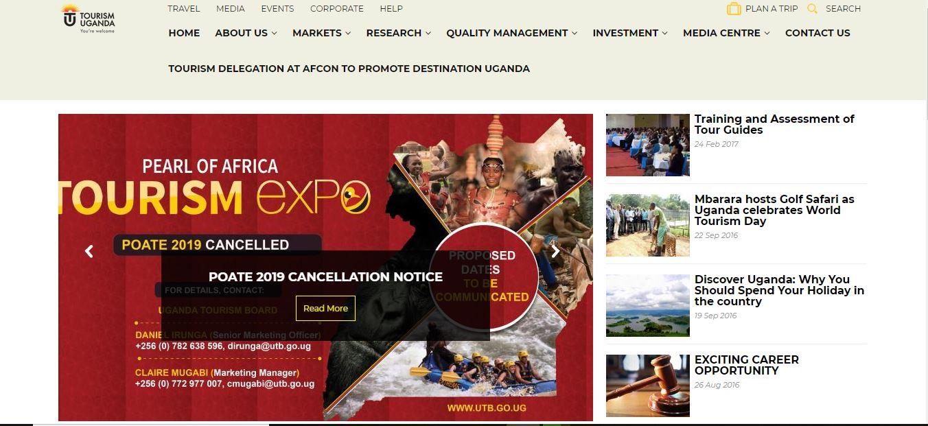 The Uganda Tourism Board (UTB)