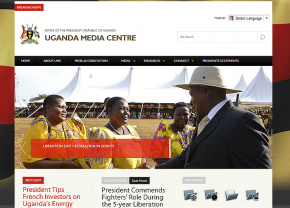 www.mediacentre.go.ug -  Central site for access to press releases and other official information from ministries and government departments of Uganda.